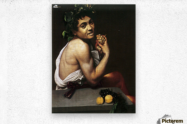 Young Sick Bacchus  Metal print