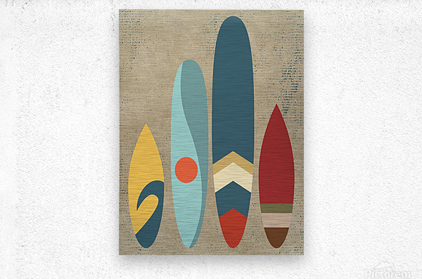 New day new waves  Metal print