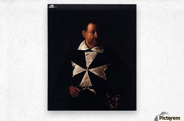 Portrait of a Maltese Knight  Metal print