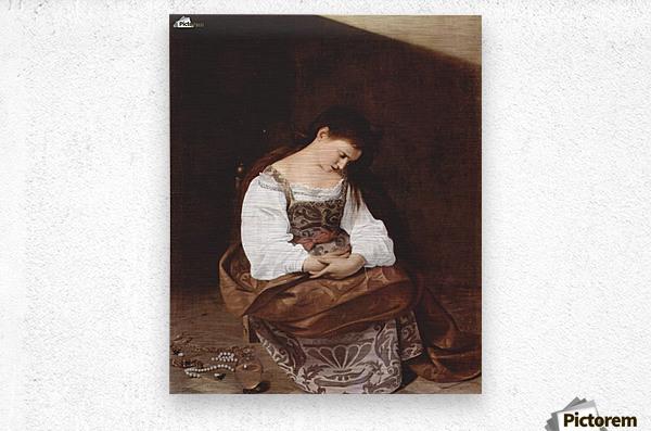 Penitent Magdalene  Metal print