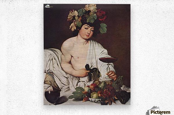 Self portrait Caravaggio  Metal print