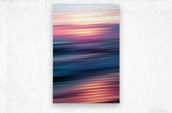 Abstract Sunset XII  Metal print