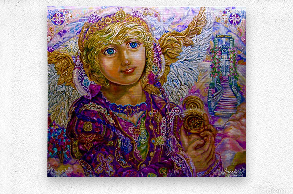 Yumi Sugai.Guardian angel Gabriel.  Metal print