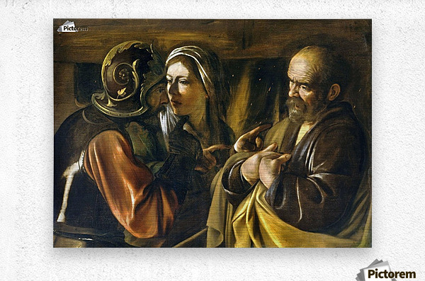 The Denial of Saint Peter  Metal print