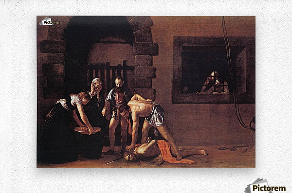 Beheading of Saint John the Baptist  Metal print