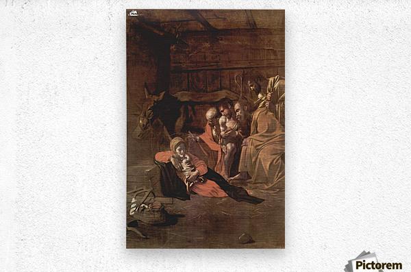 Adoration of the shepherds  Metal print
