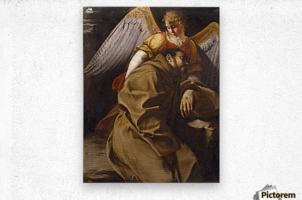 Saint John the Baptist in the Wilderness  Metal print