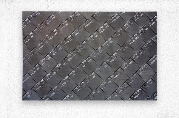 Space Shuttle Tiles  Metal print