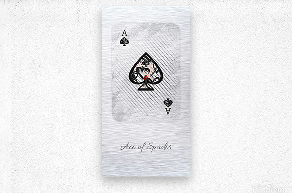 playing cards ace of spades  Metal print
