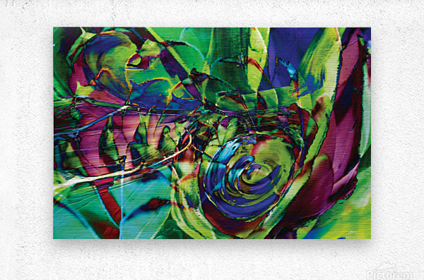 swirling abstract shapes   Metal print