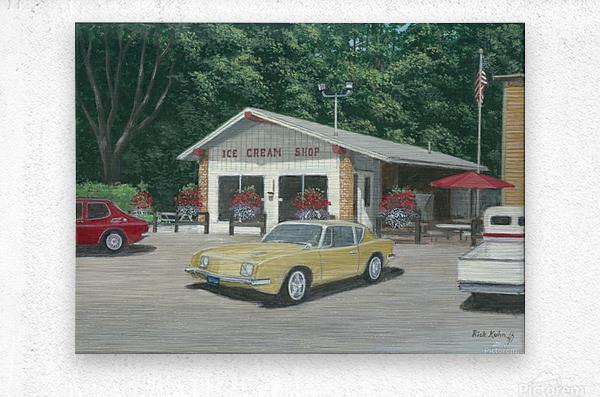 The Ice Cream Shop - Newtown Scenes  12 x 16   Metal print