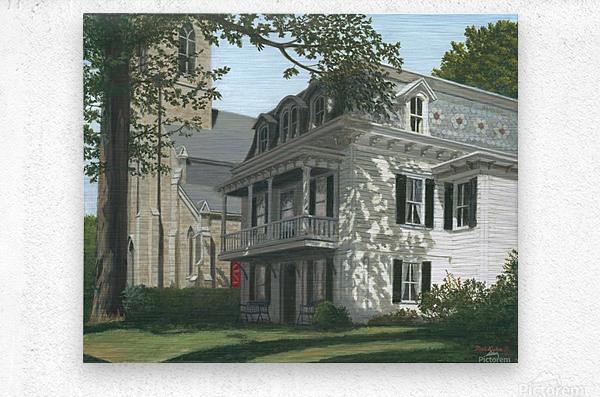 Balcony House Shadows - Newtown Scenes 16X20   Metal print
