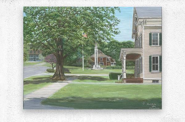 Main Street Monument - Newtown Scenes 16X16  Metal print