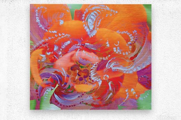 floral swirling  Metal print