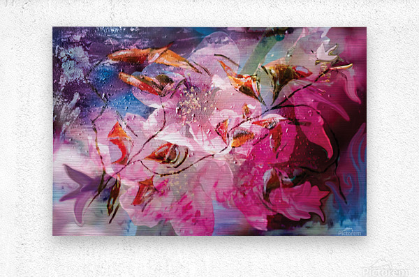 floral creation abstraction  Metal print