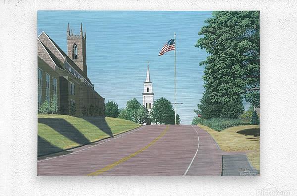 Church Hill Road - Newtown Scenes 12X16  Metal print