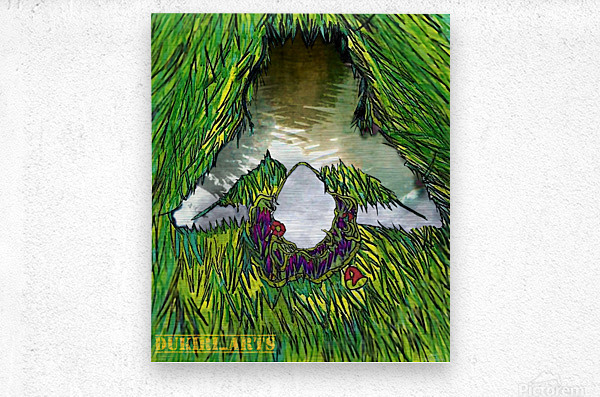 Woman of the Pond  Metal print
