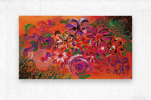 abstract colorful garden  Metal print