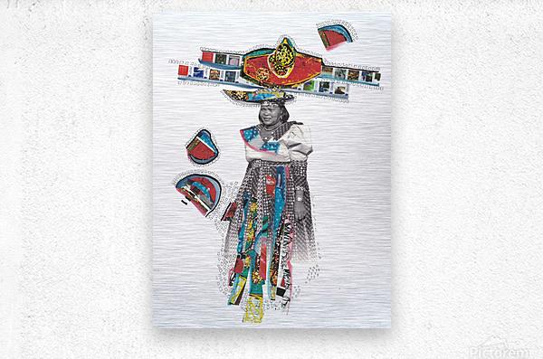 Herero Woman 7  Impression metal