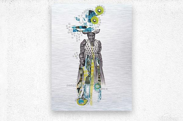 Herero woman 2  Metal print
