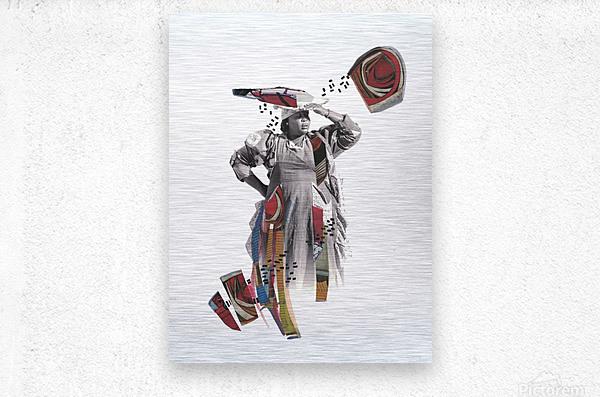 Herero woman 1  Impression metal