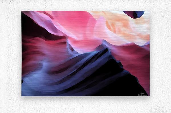 Blue Canyon  Metal print
