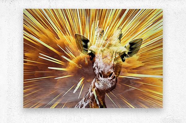 Giraffe pop 7   Metal print