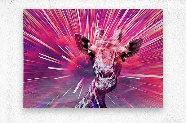 Giraffe pop 5  Metal print