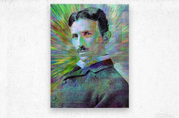 Electric Tesla  Metal print