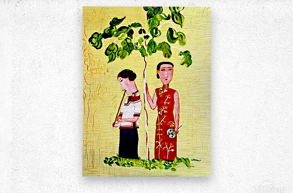 AS - Two Chinese Ladies  Metal print