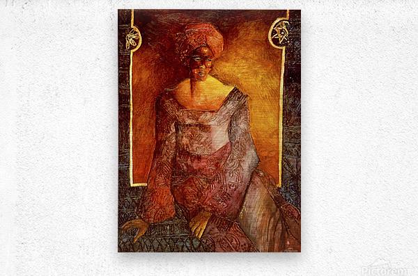 Femme Africaine  Impression metal