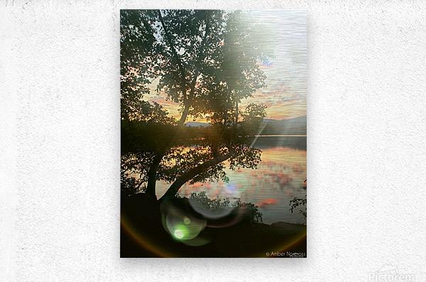 Stunning sunset  Metal print