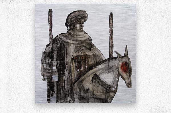 Shadow horserider 5  Metal print