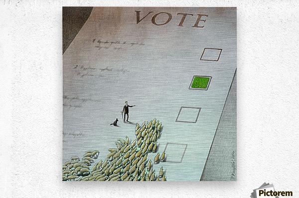 Vote  Metal print