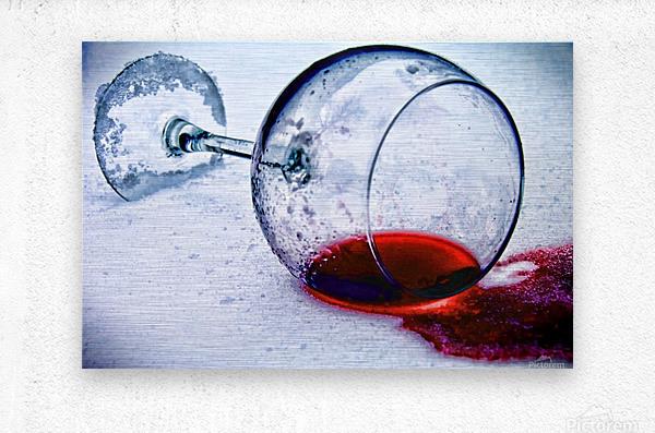 Wine Art 3  Metal print