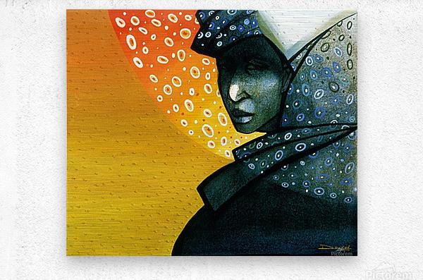 Femme soleil  Metal print