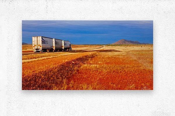 Road Train to Somewhere  Metal print