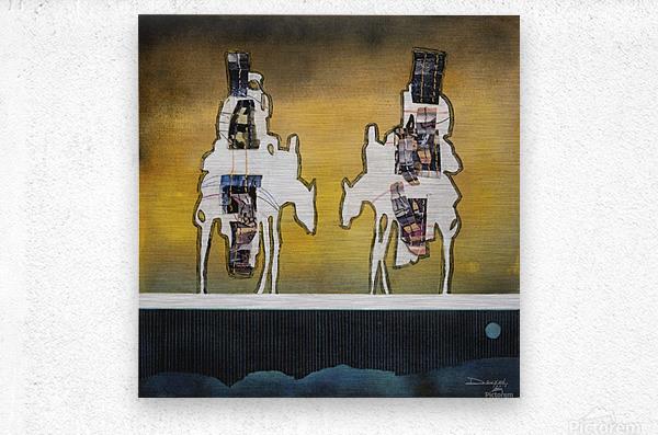 Donkey talk  Metal print