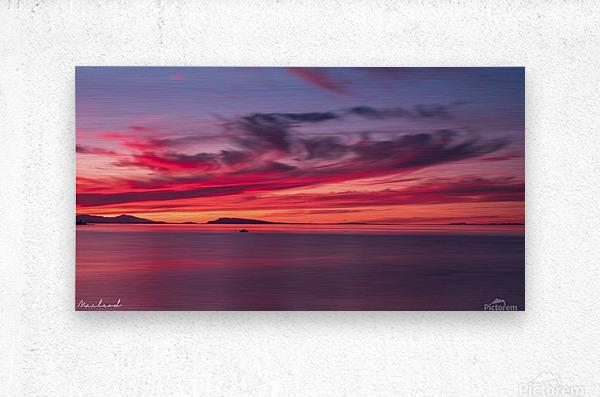 Late summer sunset DSC_3498  Metal print