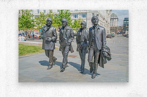 The Beatles Statue  Metal print