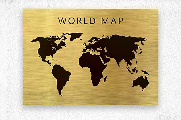 map world 4  Metal print