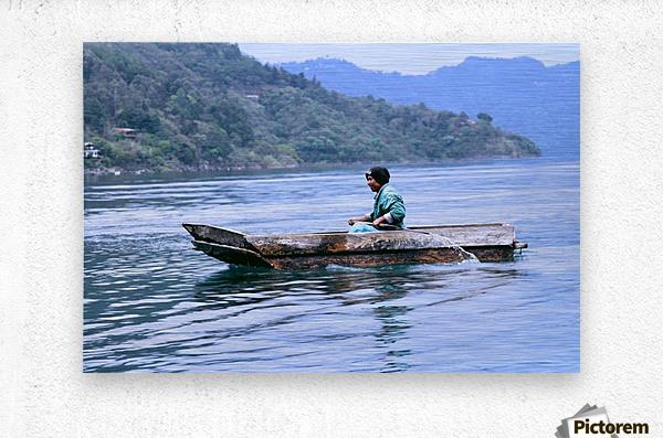 En Lago de Atitlan, Guatemala  Metal print