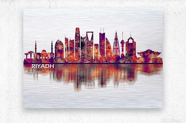 Riyadh Saudi Arabia Skyline  Metal print