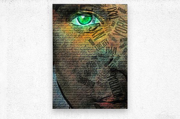 NYC Face  Metal print