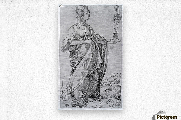 Drawing from the tarot-prudence  Metal print