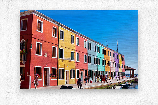 Colorful Venice Houses  Metal print
