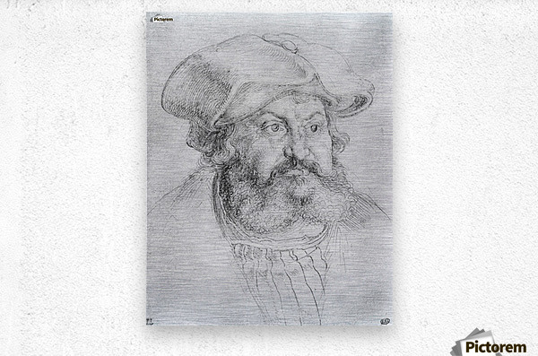 Portrait of Elector Friedrich the Wise  Metal print