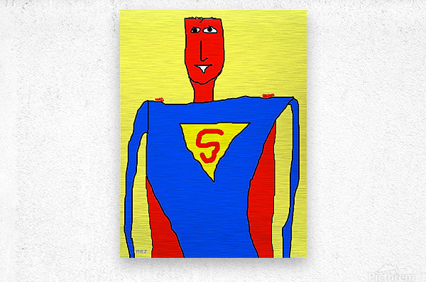 Superman Lite  Metal print