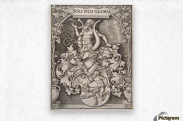 Coat of Arms of Johann Tscherte  Metal print
