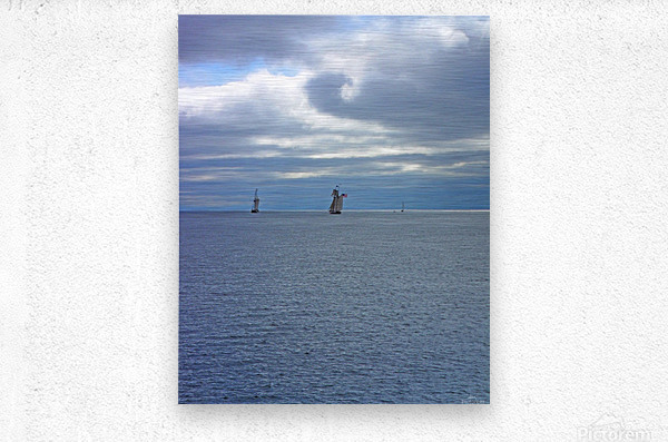 Tall Ships Vista  Metal print